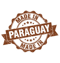 made in paraguay round seal vector image