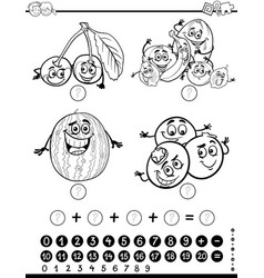 Mathematical activity coloring page vector