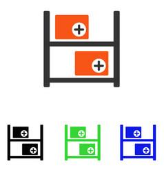 Medical warehouse flat icon vector