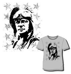 men t shirt print vector image