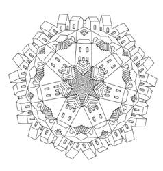 Ornamental castle from a fairy tale vector