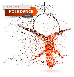 Pole dance exotic striptease - dot vector