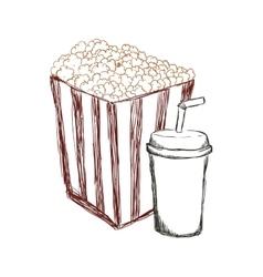 Pop corn cinema movie design vector