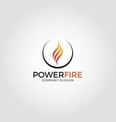 power fire - energy logo vector image