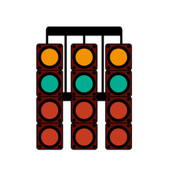 Racer traffic light flat vector