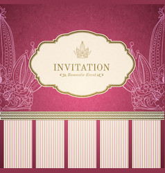 Retro princess invitation template vector image