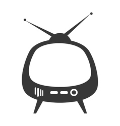 Retro television entertainment device vector