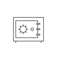 Safe icon outline vector image