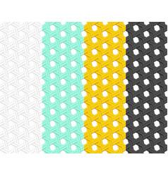 Seamless rattan pattern in flat style art vector