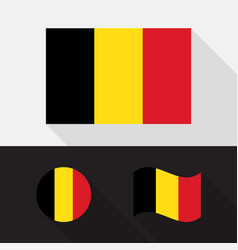 set belgium flag flat design vector image