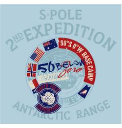 South pole antarctica expedition vector