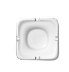 square white ashtray for cigarette realistic vector image