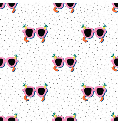 sunglasses seamless pattern pink sunshades vector image