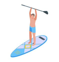 Sup surfing icon isometric style vector