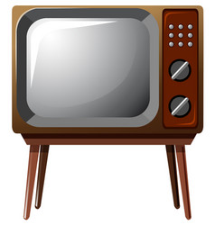 Television with wooden legs vector