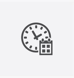 Time watch calendar icon vector