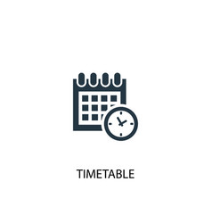 Timetable icon simple element vector