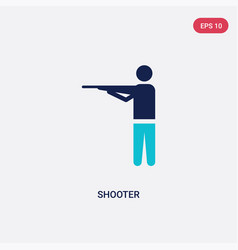 Two color shooter icon from entertainment and vector
