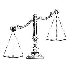 Unbalanced scales vector