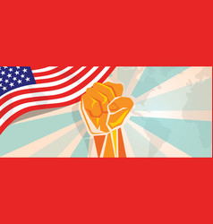 usa united states of america fight and protest vector image