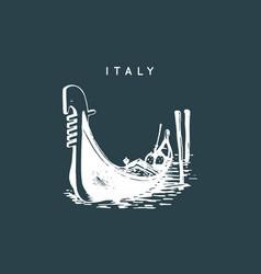 venetian gondola drawing venice touristic symbol vector image