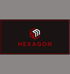 Ym hexagon logo design inspiration vector