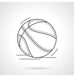 Black flat line basketball ball icon vector image