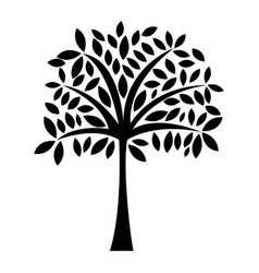 black icon tree cartoon vector image vector image