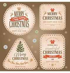 Christmas retro labels vector image