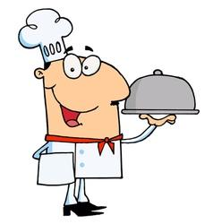 Happy Chef Man vector image vector image