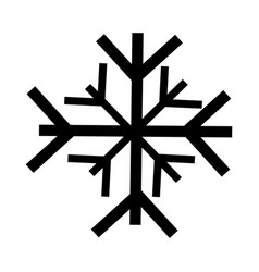 black icon snowflake cartoon vector image vector image