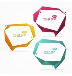 Bubble Speech Banner Card Set vector image