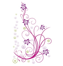 Flowers abstract vector image