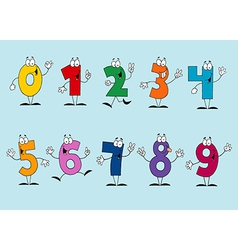 Funny Cartoon Numbers Set vector image vector image