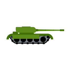 military tank isolated war equipment army ground vector image