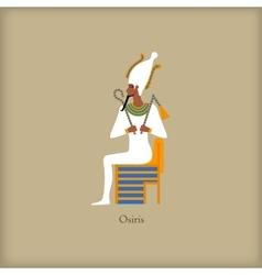 Osiris - God of the underworld icon flat style vector image vector image