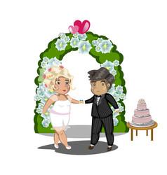 wedding celebration getting married vector image vector image