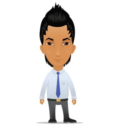 Businessman with modern hairstyle vector image