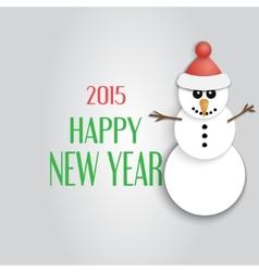 Christmas Card Snowman Flat design style vector image