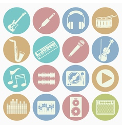 white icons music vector image vector image