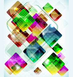 abstract technology background vith falling vector image vector image