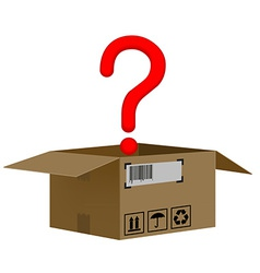box with a question mark isolated on white vector image vector image