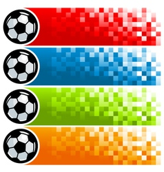 Colorful Soccer Pixel Banners vector image vector image