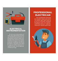 electrical instrumentation and professional vector image