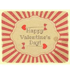 Grunge Design Valentines Day Card vector image vector image