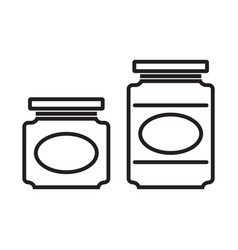 jam jar line silhouettes vector image
