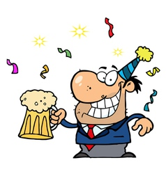 Man Toasting At A New Years Party vector image vector image