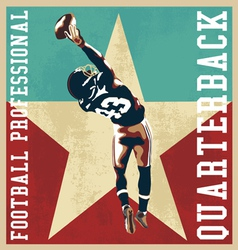 ouaterback football vector image vector image