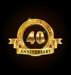 40 years anniversary celebration logotype vector image