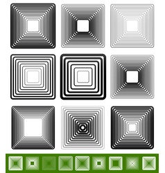 Abstract blended square element set vector